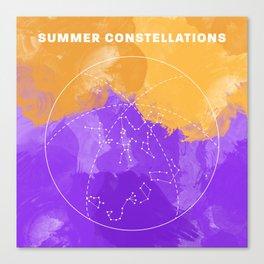 Summer Constellations Canvas Print