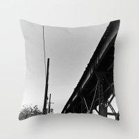 milwaukee Throw Pillows featuring Milwaukee & Leavitt by Ciara Shook