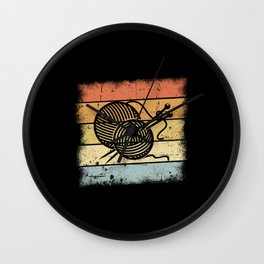 Knitting Motif Wall Clock