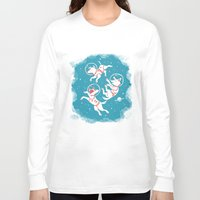 soviet Long Sleeve T-shirts featuring Soviet Space Dogs by Gisela Beer