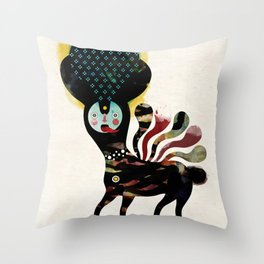 Muxxi & Alvaro Tapia / Duality Throw Pillow