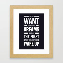 Lab No. 4 If You Want To Make J.M. Power Life Inspirational Quote Framed Art Print