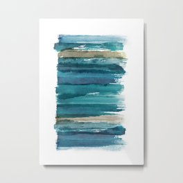 Abstract Watercolor Brush Style Metal Print