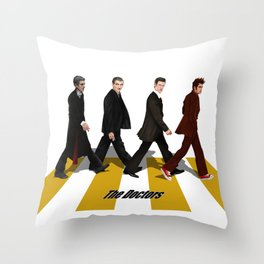 The Doctor who at abbey road iPhone 4 4s 5 5c 6 7, pillow case, mugs and tshirt Throw Pillow