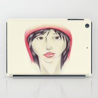 red riding hood iPad Cases featuring Little Red Riding Hood by One Curious Chip