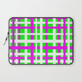 Fuchsia & Green Interlocking Stripes Laptop Sleeve
