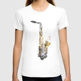 Saxophone music art #saxophone T-shirt