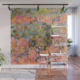 406 4 Floral Target Wall Mural