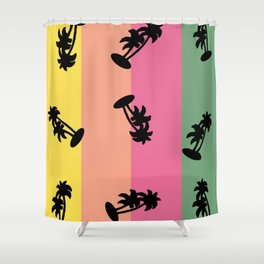 90s Palm Tree Vibe Shower Curtain