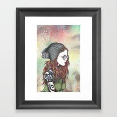 Dragon girl Framed Art Print