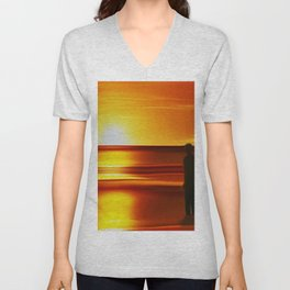 Gormley (Digital Art) Unisex V-Neck