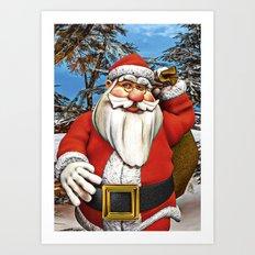 Santa Gifts Art Print