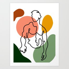 NOODDOOD Lines 8 Art Print