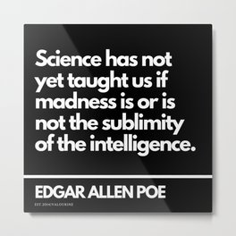 23  Edgar Allen Poe Quotes   201012  Existentialism Nihilism Existentialist Philosophy Writer Raven Metal Print