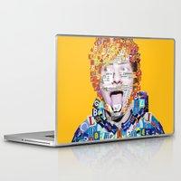 ed sheeran Laptop & iPad Skins featuring Ed Sheeran by Jack