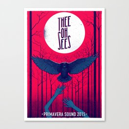 Thee Oh Sees poster Canvas Print