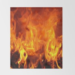 fire pattern home decor Throw Blanket