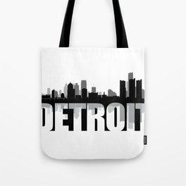 Detroit Silhouette Skyline Tote Bag