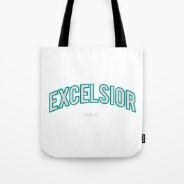 Excelsior, one of the Stan Lee's famous word Tote Bag