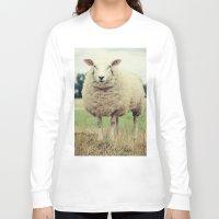 sheep Long Sleeve T-shirts featuring Sheep by Falko Follert Art-FF77