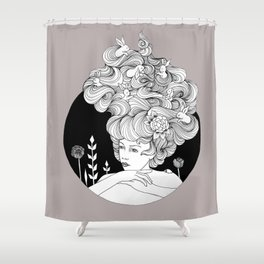 Travelling - Mulled Time Shower Curtain