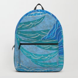 Watercolor Whale Dive Backpack