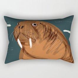 Summer Walrus Rectangular Pillow