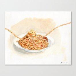 Pasta love Canvas Print