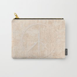 Peace in peach Carry-All Pouch