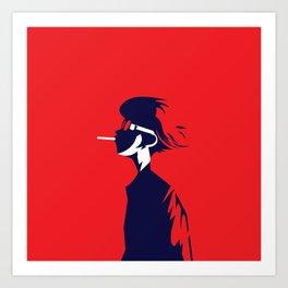smoke boy Art Print