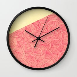 - summer : the monolith is pink - Wall Clock