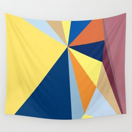 abstract pattern geometric triangle mosaic background low poly style Wall Tapestry