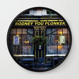 Rodney's pub Wall Clock