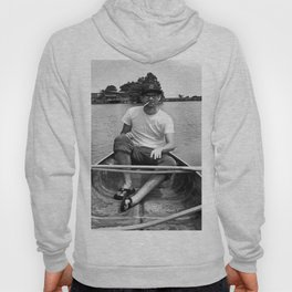 Ronn boating it up. Hoody