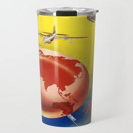 Vintage poster - Qantas Travel Mug