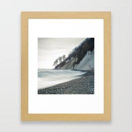 Winter chalk cliffs -Winter Baltic Sea Serie Framed Art Print