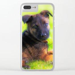 Hollandse herdershond puppy 8 weeks old Clear iPhone Case
