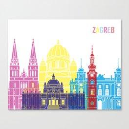 Zagreb skyline pop Canvas Print