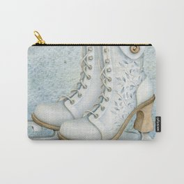 Christmas vintage ice skating #1 Carry-All Pouch