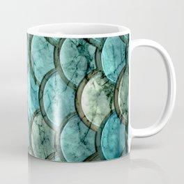 Abstract teal neo mint marble mermaid pattern Coffee Mug
