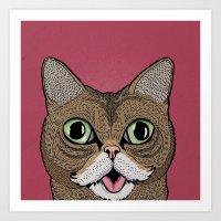 lil bub Art Prints featuring 'Lil Bub by Sydney Emery