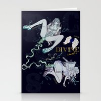 pisces Stationery Cards featuring PISCES by Chandelina
