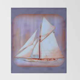 Ghost Sails Throw Blanket