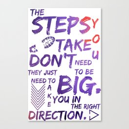 The Step You Tak Don't Need To Big - Jemma Simmons - Agents of SHIELD Canvas Print