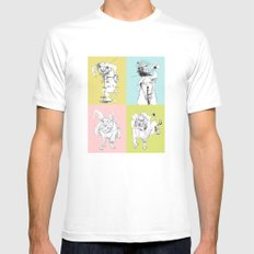 4 Little Animals White MEDIUM Mens Fitted Tee