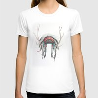 headdress T-shirts featuring Antler Headdress by Nicole Gaitan