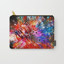 lionfish splatter watercolor Carry-All Pouch