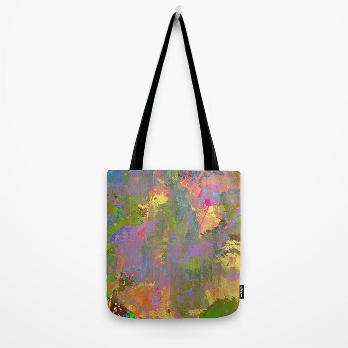 Messy Art II - Abstract, pastel coloured artwork in a random, chaotic, messy style Tote Bag