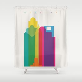Shapes of Houston. Accurate to scale Shower Curtain