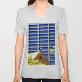 Blessing the Skyscrapers Unisex V-Neck